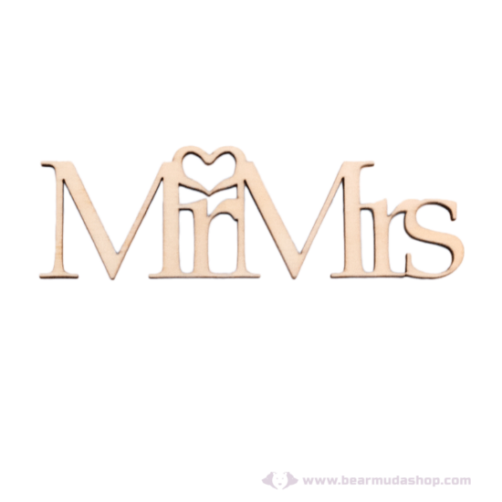 Mr és Mrs akasztható és lógatható felirat