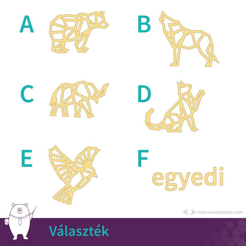 Geometrikus állatok medál választék