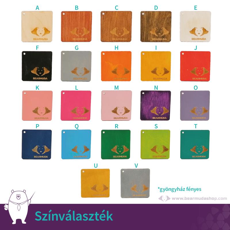 Egyedi monogramos poháralátét, több színben