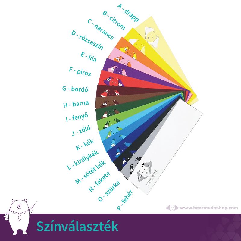 Egyedi neves feliratos papír ültető kártya, több színben