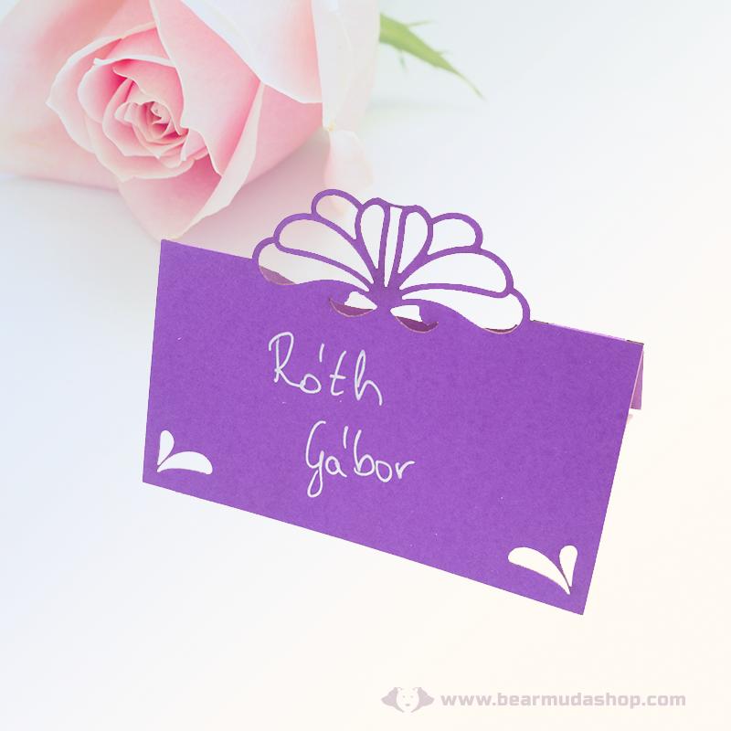 Írható papír ültető kártya virág, több színben