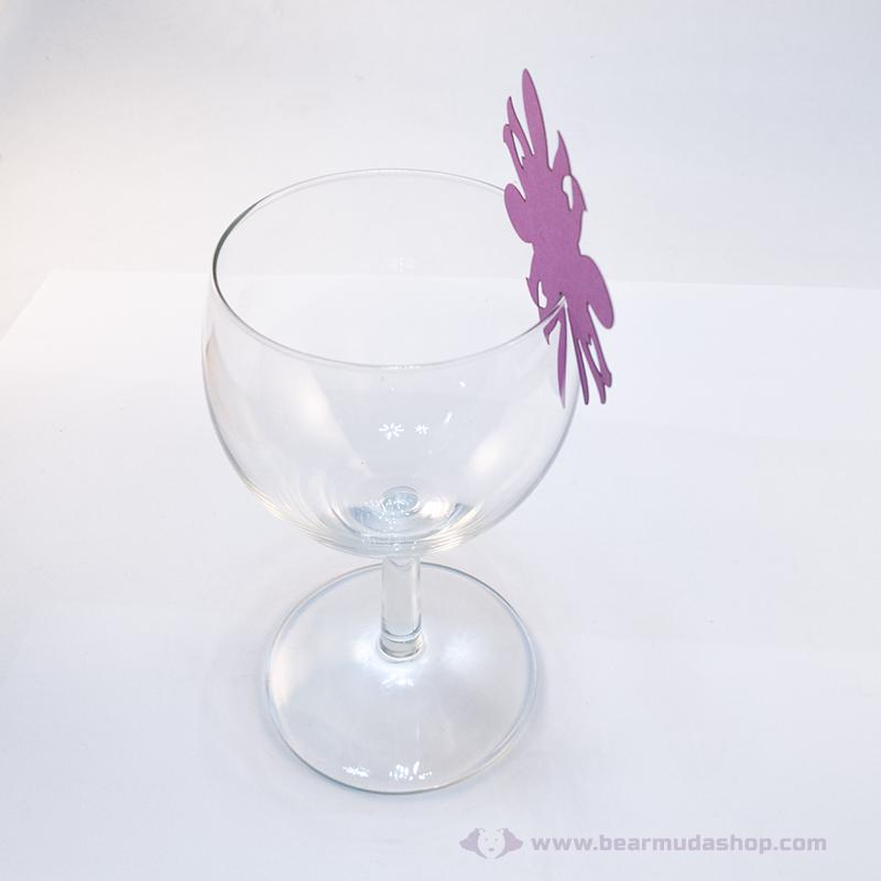 Írható papír pohár jelölő virág, több színben