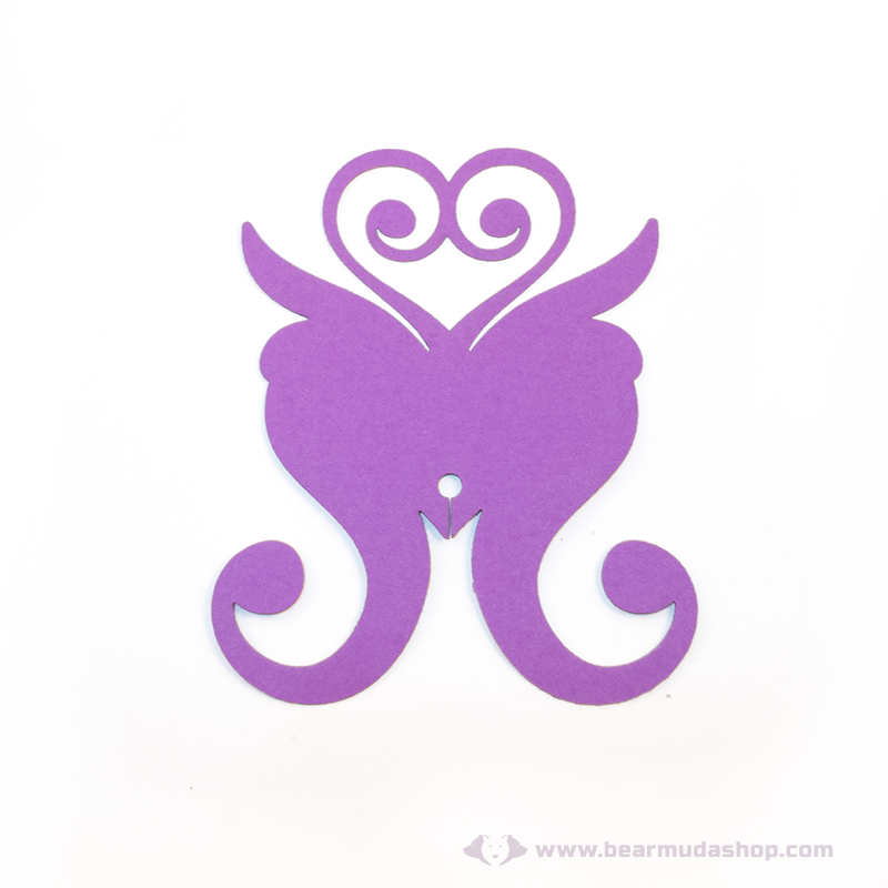 Írható papír pohár jelölő pillangó, több színben