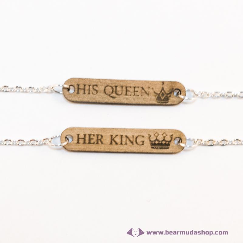 His Queen, Her King páros karkötő