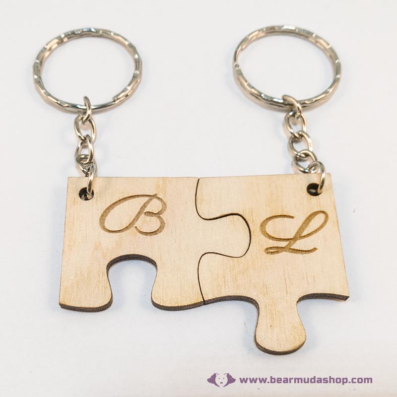 Puzzle páros kulcstartó