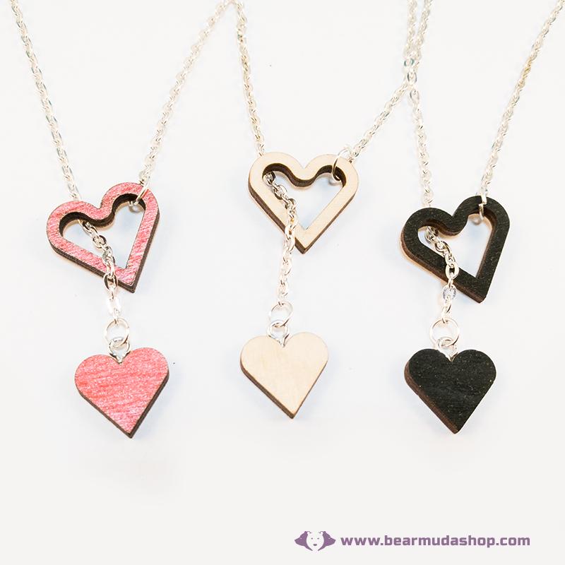 Szívből szívecske nyaklánc, több színben