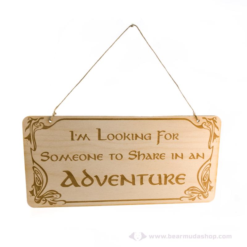 Gyűrűk Ura témájú akasztható ajtó tábla adventure, több színben
