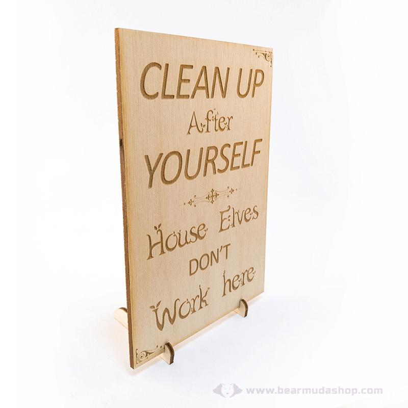 Harry Potter témájú álló vagy fali dekor Clean Up, több színben
