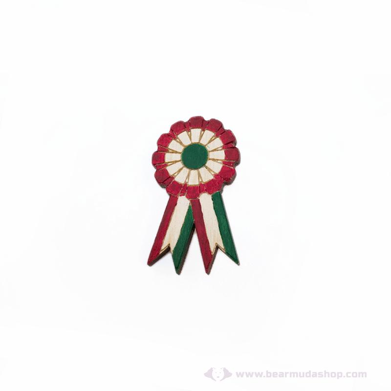 Kokárda piros fehér zöld kitűző