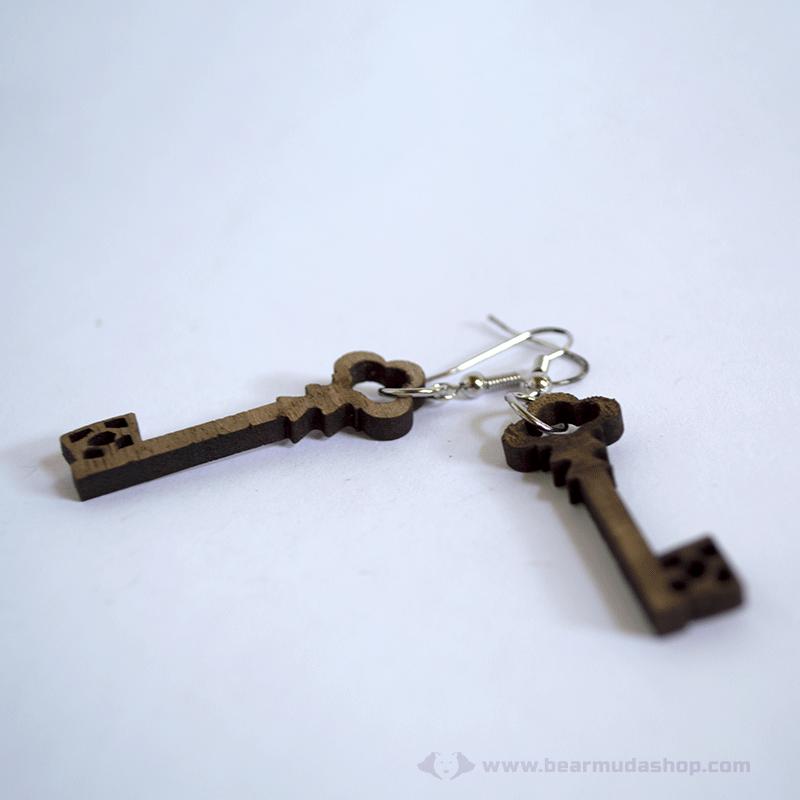 Kulcs fülbevaló