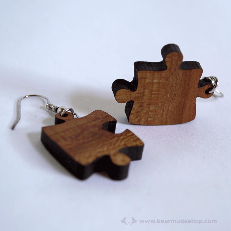 Puzzle fülbevaló