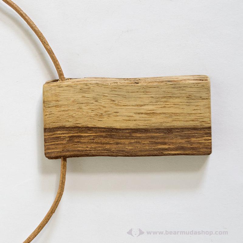 Diófa nyaklánc gravírozható hátlap